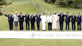 Alle winken, nur eine macht die Raute: G7-Gipfel endet mit wenig handfesten Ergebnissen