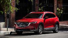 Mit 5,10 Meter steht der Mazda CX-9 den Giganten von Mercedes, BMW und Audi nicht nach.