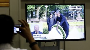 Historischer Moment der Aussöhnung: Obama legt Kranz in Hiroshima nieder