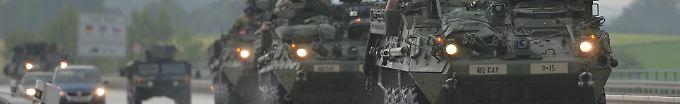 Der Tag: 13:45 US-Militärkonvoi überquert Grenze zu Tschechien