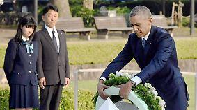 Historischer Moment der Aussöhnung: Obama legt als erster US-Präsident Kranz in Hiroshima nieder