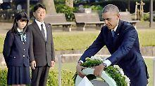 """Obama in Hiroshima: """"Es liegen 'Hope and Change' in der Luft"""""""