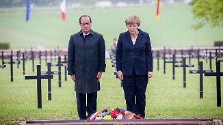 """Merkel und Hollande in Verdun: """"Freundliche Gesichter sind nicht selbstverständlich"""""""