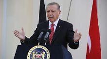 Präsident Erdogan findet deutliche Worte für Angela Merkel.