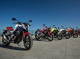 Optisch fegt die Honda CB500F die Konkurrenz nicht von der Straße. Was ihre Fähigkeiten betrifft schon.
