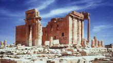 Die antike Oasenstadt Palmyra inmitten der Wüste zwischen Damaskus und dem Euphrat in Syrien.