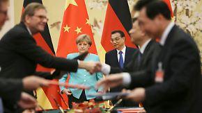 Wirtschaftsbeziehungen ankurbeln: Merkel segnet 24 Vereinbarungen mit China ab