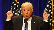 Trump bei seinem Auftritt im St. Anselm College in Manchester im US-Bundesstaat New Hampshire.