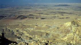 Der Krater bei Mitzpe Ramon.
