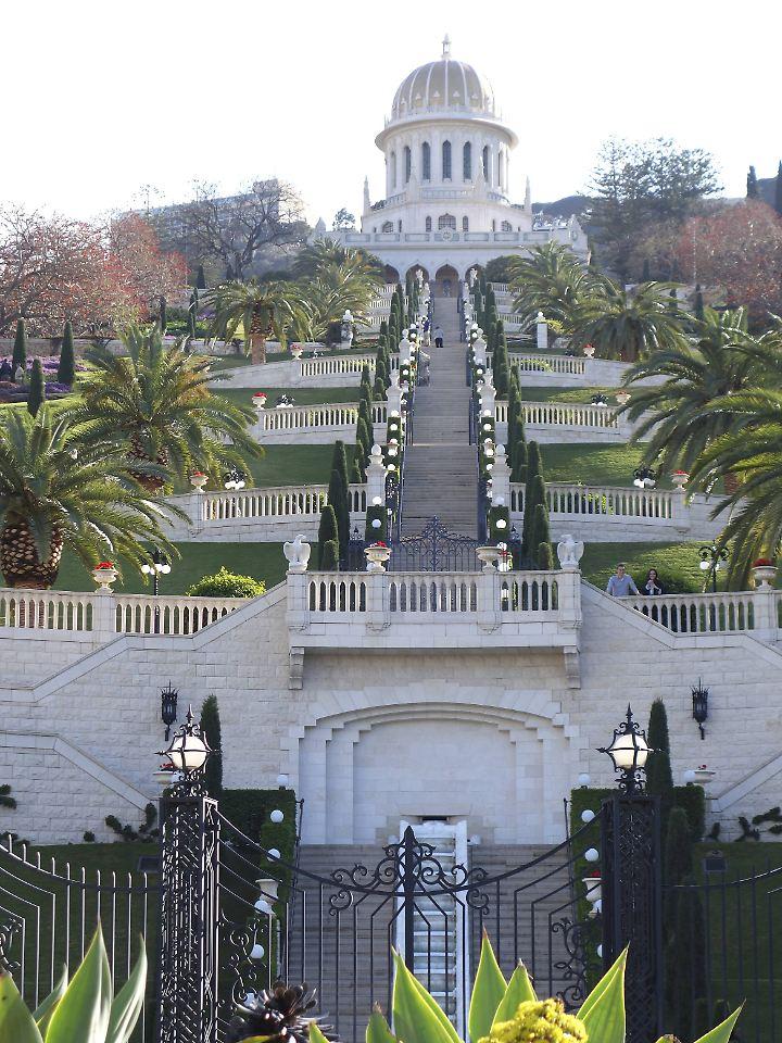 Die Bahai-Gärten in Haifa bieten eine traumhafte Kulisse.