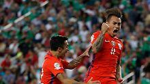 Der Chilene Eduardo Vargas traf gleich vier Mal.