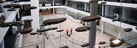 In der neuen Konzernzentrale von Siemens in München.