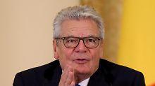 """""""Vertragstreue selbstverständlich"""": Gauck verteidigt Steinmeiers Nato-Kritik"""