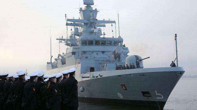 """Die """"Ludwigshafen am Rhein"""" ist eine von derzeit fünf deutschen Korvetten und wird unter anderem im Mittelmeer eingesetzt."""