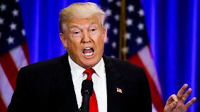 """Eine """"Weltklasse-Lügnerin"""" nannte Trump Clinton auch noch."""