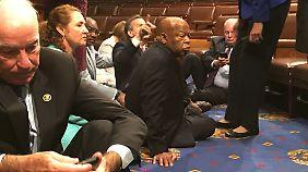Seltenes Bild im US-Kongress.