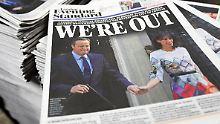 """Wir sind raus, titelt der """"Evening Standard""""."""