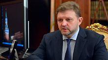 Belych bei einem Treffen mit Russlands Präsidenten Wladimir Putin im Februar diesen Jahres.
