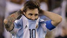 Gefrustet: Messi nach dem verlorenen Finale der Copa America.