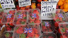 Diese Erdbeeren sind aus Herefordshire - im Gegensatz dazu dürften viele Lebensmittel aus der EU in Großbritannien teurer werden.