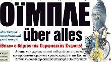 """Ausschnitt aus der Zeitung """"Dimokratia"""""""