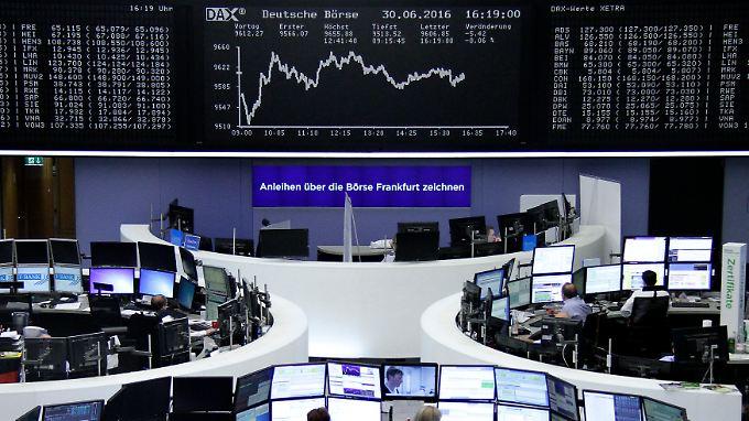 So sah der Dax-Chart gegen Ende des Handelstages aus.
