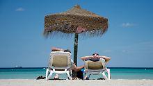 Am Plaja-de-Muro-Strand auf Mallorca