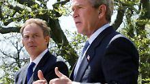 """Bush sei weiterhin """"zutiefst dankbar"""" für den Einsatz der US-Truppen und ihrer Verbündeten im Krieg gegen den Irak, sagte ein Sprecher."""