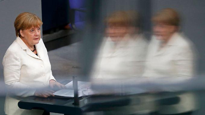 Angela Merkel während ihrer Regierungserklärung