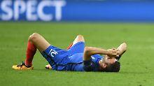 Nicht nur Andre-Pierre Gignac ist nach dem verlorenen Finale am Boden zerstört - ganz Frankreich leidet.