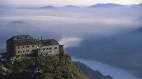 Vom Watzmannhaus gibt es einen fantastischen Ausblick auf die Umgebung.