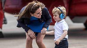 Airshow in Farnborough: Prinz George besucht die großen Flugzeuge