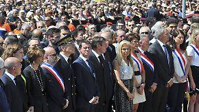 Neue Details über Amokfahrer: Premier Valls bei Schweigeminute in Nizza ausgebuht