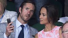 Pippa Middleton und ihr angeblicher Verlobter, James Matthews, in Wimbledon.