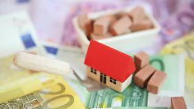 Die Finanzierungsbedingungen für Bauherren sind perfekt.