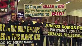 """Vor den Olympischen Spielen in Rio: Polizei: """"Wir können Touristen nicht schützen"""""""