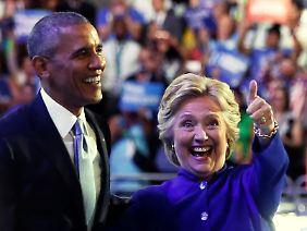 Kam ganz am Ende dazu: Hillary Clinton