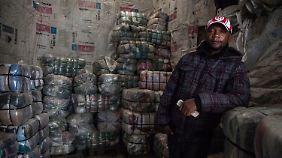 David Irungu bezieht seine Ware aus Bitterfeld.