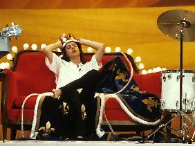 """Rio Reiser 1986 als """"König von Deutschland""""."""