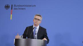 """""""Terrorbedrohung ist hoch"""": De Maizière will Sicherheitsgesetze verschärfen"""