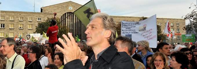 """Walter Sittler, laut Strobl """"Propagandist der S21-Bewegung""""."""