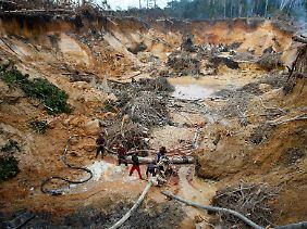 Illegale Mine in Venezuela.