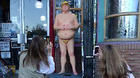 Kaum zu glauben, aber wahr: Nackter Trump taucht in mehreren US-Städten auf