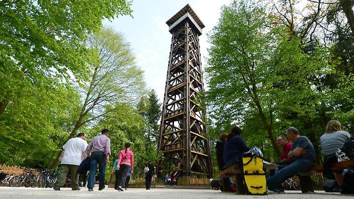 Der Goetheturm bietet einen fantastischen Ausblick auf die Stadt.