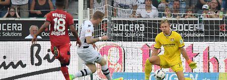 """""""Fohlen"""" feiern weiter: Gladbach schlägt Bayer im Spitzenspiel"""