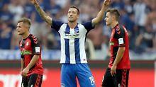 Furioser Start gegen Freiburg: Schieber erlöst Hertha mit Last-Second-Tor