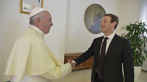 Zuckerberg im Vatikan: Pontifex empfängt den Netzwerk-Papst
