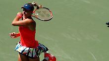 Lisickis Tennis-Krise geht weiter: Kerber zieht mühelos in Runde zwei ein