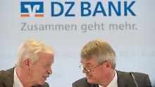 Wolfgang Kirsch (r.) im Gespräch mit WGZ-Chef Hans-Bernd Wolberg (Archivbild).