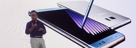 Berichte über Explosionen: Samsung ruft Galaxy Note 7 zurück